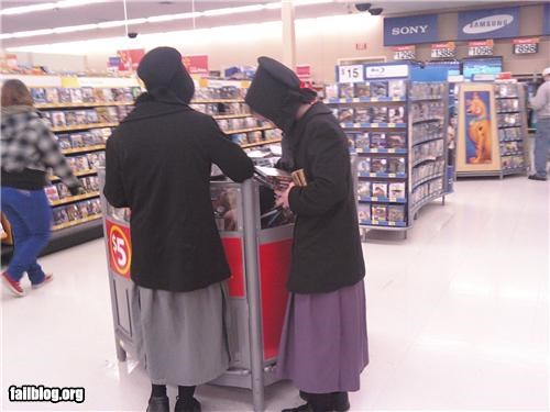 Amish Girls Buying Movies