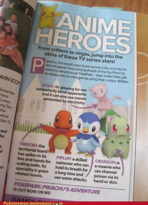 anime heroes,best of week,charmander,Chikorita,mew,mistakes,pikachu,piplup,Pokémans,pokepark,wii