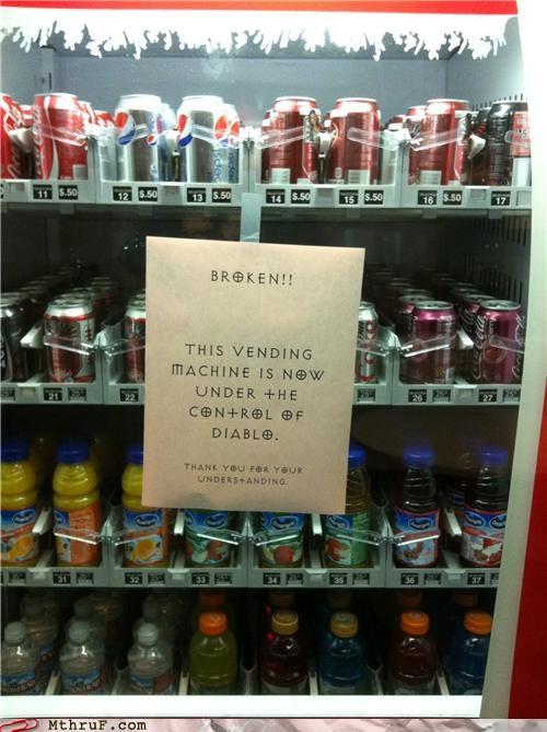 broken,diablo,font,possession,repair,vending machine