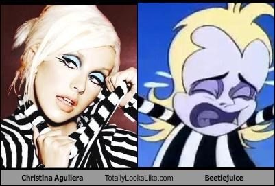 Christina Aguilera Totally Looks Like Beetlejuice