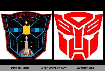 Mission Patch Totally Looks Like Autobot Logo