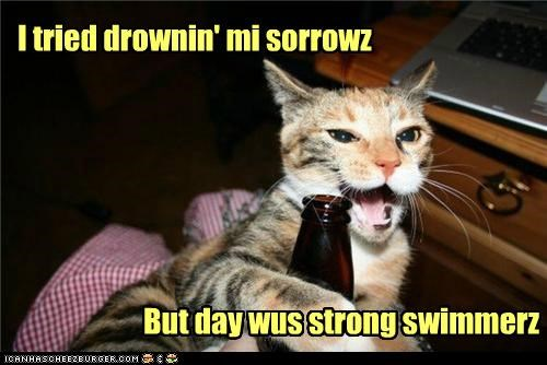 I tried drownin' mi sorrowz
