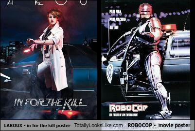 LAROUX - in for the kill poster Totally Looks Like ROBOCOP -  movie poster