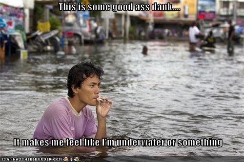 drugs,flood,flooding,high,smoke,smoking,stoned,water,weed