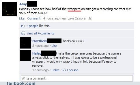 rappers,spelling,witty reply