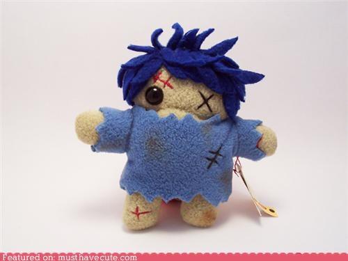 blue,fleece,one eye,Plush,zombie