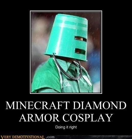 MINECRAFT DIAMOND ARMOR COSPLAY