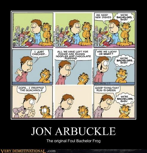 foul bachelor frog,garfield,Hall of Fame,hilarious,john arbuckle