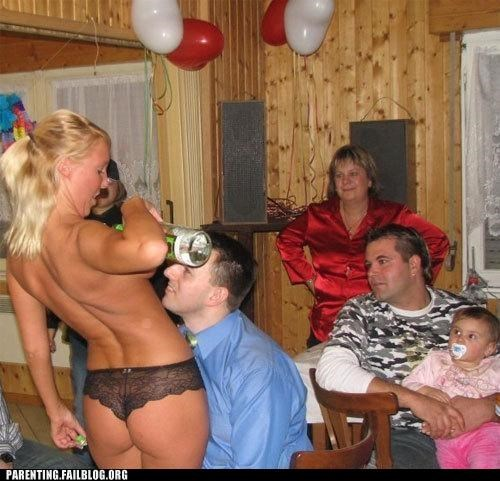 baby,bachelor party,dad,family,Parenting Fail,Party,pr0n,stripper
