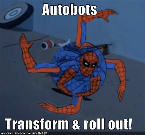 optimus prime,Spider-Man,Super-Lols,transformers