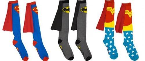 batman,capes,DC,merch,socks,superheroes,superman,wonder woman