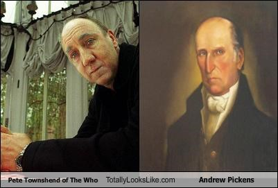 Pete Townshend of The Who Totally Looks Like Andrew Pickens