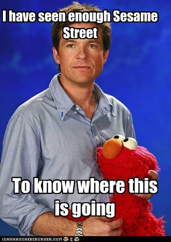 actors,elmo,jason bateman,puppet,puppets,roflrazzi,Sesame Street