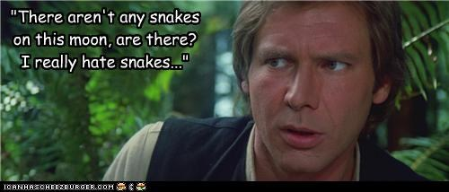 endor,Han Solo,Harrison Ford,Indiana Jones,moon,snakes,star wars