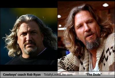 "Dallas Cowboys Coach Rob Ryan Totally Looks Like ""The Dude"""