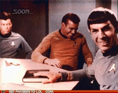 Captain Kirk,DeForest Kelley,Leonard Nimoy,McCoy,Shatnerday,SOON,Spock,Star Trek,William Shatner