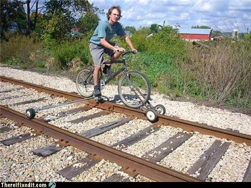 bicycle,dangerous,not a kludge,train track