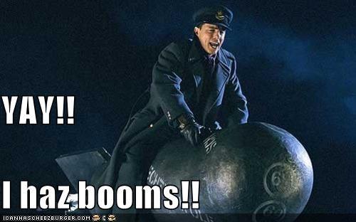 bomb,booms,doctor who,Jack Harkness,john barrowman,yay