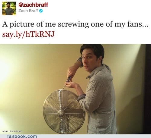 busted,camera,fan,Featured Fail,Photo,screwing,twitter,Zach Braff