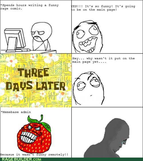 front page,Rage Comics,Sad,strawberry guy