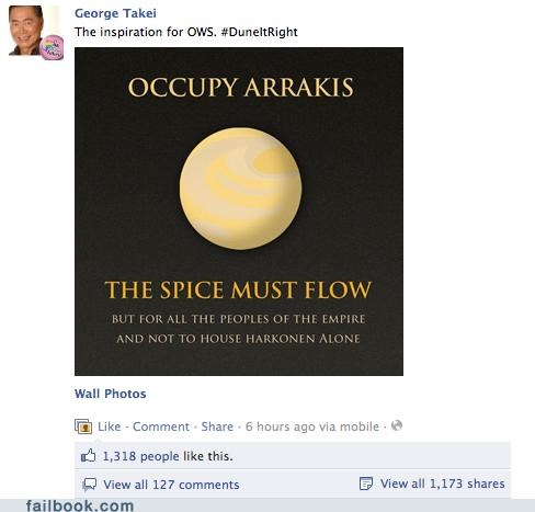 Dune,george takei,Occupy Wall Street,win
