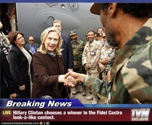 Fidel Castro,Hillary Clinton,political pictures