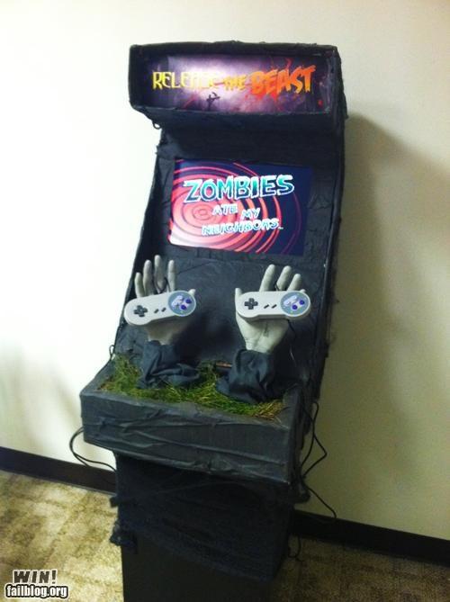 arcade cabinet,horror,nerdgasm,Super Nintendo,zombie