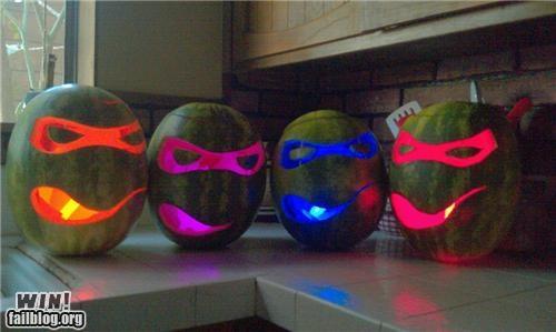 carving,Hall of Fame,nerdgasm,pop culture,sculpture,TMNT,watermelon