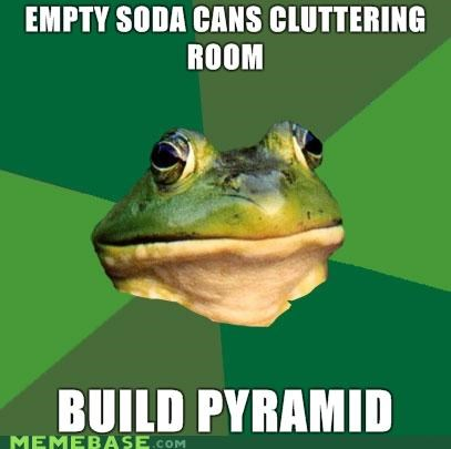 beer,cans,clutter,egypt,foul bachelor frog,pyramid,soda