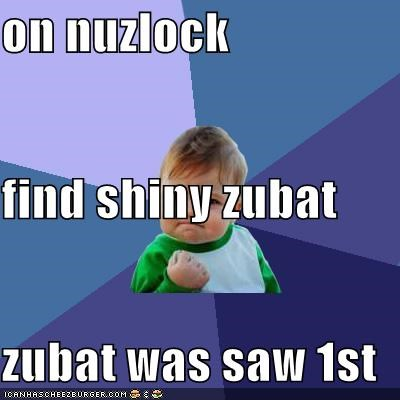 on nuzlock find shiny zubat zubat was saw 1st