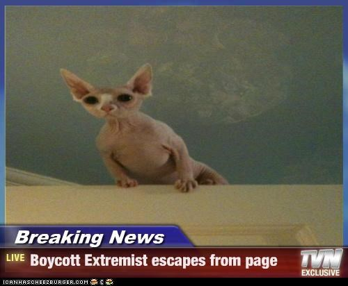 Breaking News - Boycott Extremist escapes from page