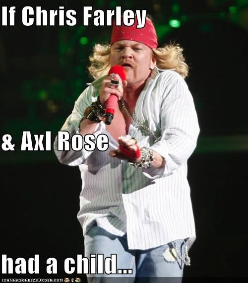 If Chris Farley & Axl Rose had a child...