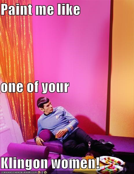 klingon,Leonard Nimoy,paint me like one of your,Spock,Star Trek