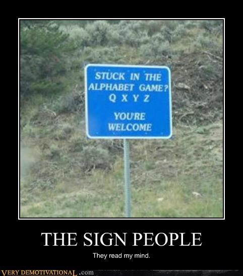 THE SIGN PEOPLE