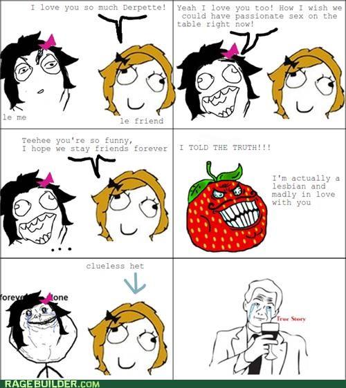 clueless,love,Rage Comics,strawberry guy