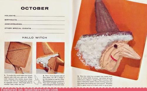 book,cake,epicute,halloween,instructions,recipe,witch