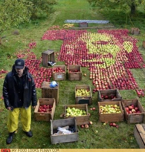 apples,art,mosaic,orchard,portrait,steve jobs