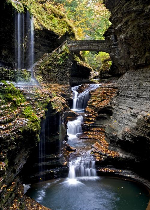 getaways,gorge,green,Hall of Fame,new york,north america,united states,water,waterfall