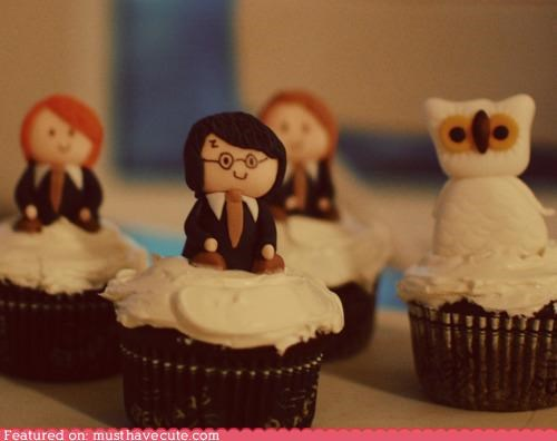 characters,cupcakes,epicute,fondant,frosting,Harry Potter