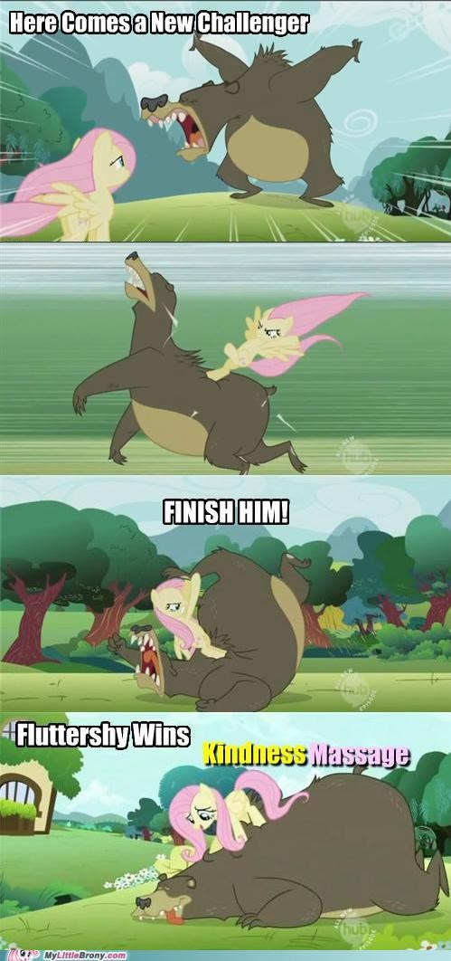 Pony Kombat: Fluttershy VS. Bear