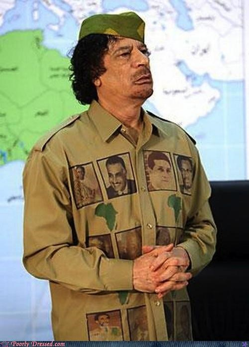 Gadhafi And His Selection of Shirts