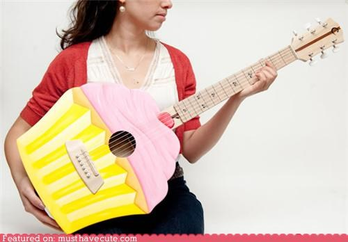 cupcake,guitar,handmade,sweet