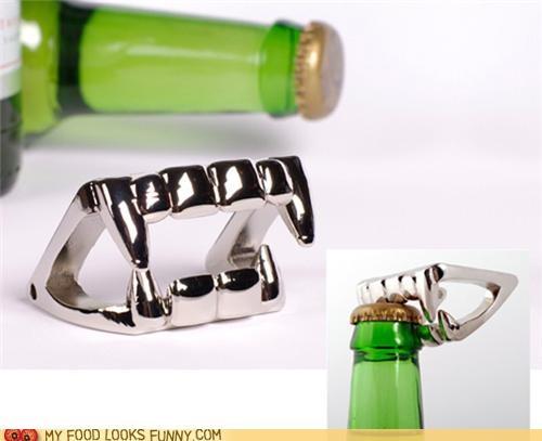 bottle opener,halloween,metal,opener,teeth,vampire