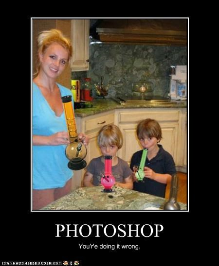 bad photoshop,bongs,britney spears,drugs,family,kids,photoshop,poorly executed