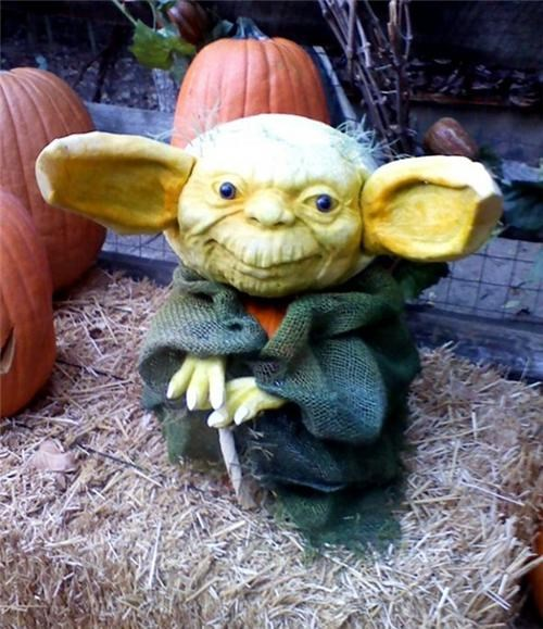 Yoda Pumpkin of the Day