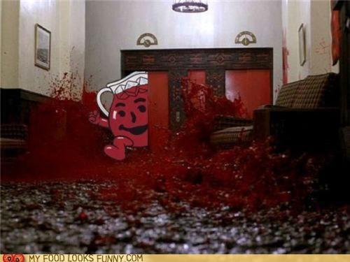 Blood,elevator,kool aid,screencap,the shining