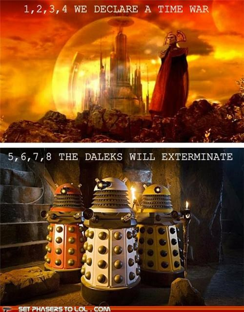 daleks,doctor who,Exterminate,gallifrey,thumb war,Time Lords,time war