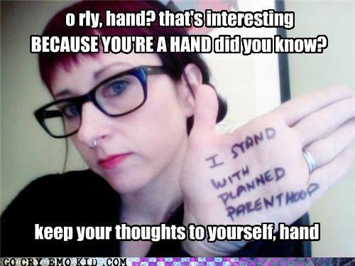 I Wonder if She Agrees With Her Hand, I Hope So