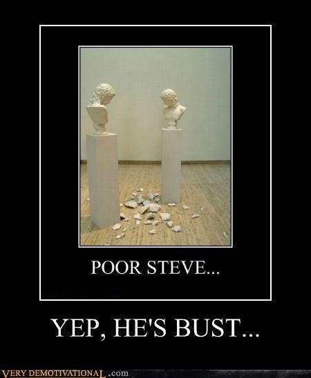 broken,bust,hilarious,pun,statue