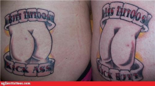 butt tats,words